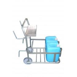 Chariot inox de transport 2 bidons